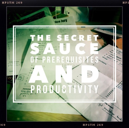 prerequisites and productivity