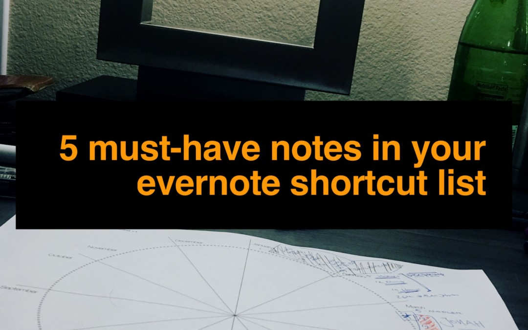 5 Must-Have Notes in Your Evernote Shortcut List |PP74